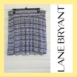 Lane Bryant White Black skirt 18/20. P24